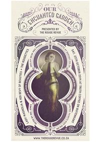 RR Our Enchanted Garden Burlesque show poster Small